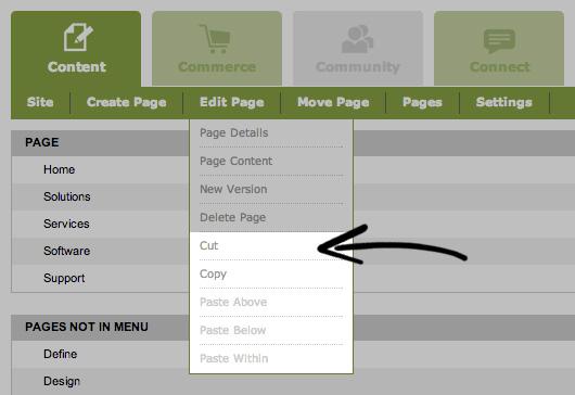 Cut, Copy & Paste a Page