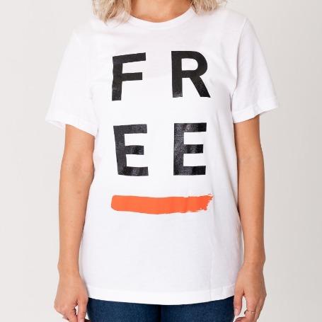 'FREE' Paint White T-Shirt