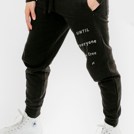 'For The One' Black Trackpants