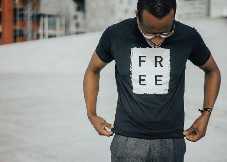 'FREE' - Black Unisex T-shirt