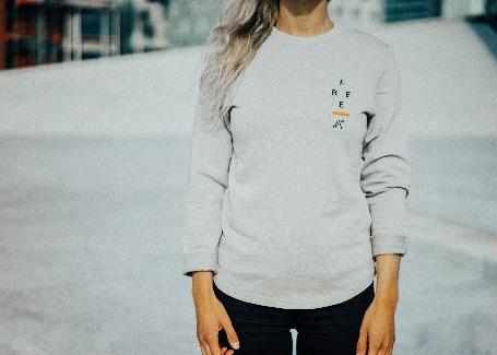 'FREE' - Grey Unisex Sweatshirt