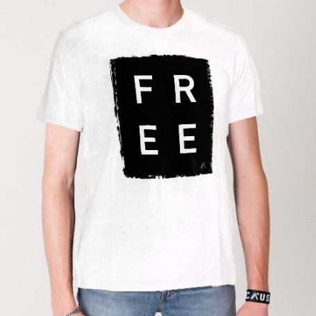 'Free' Box (White) - T-Shirt