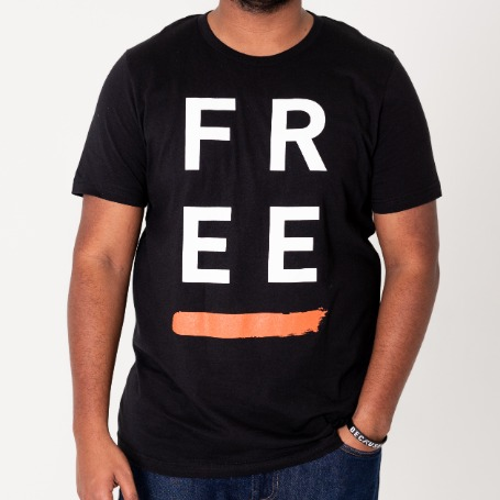 'Free' Paint Black - T-Shirt