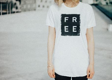 'FREE' - White Unisex T-shirt