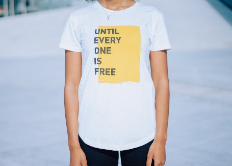 'UNTIL EVERYONE IS FREE' - Womens T-shirt