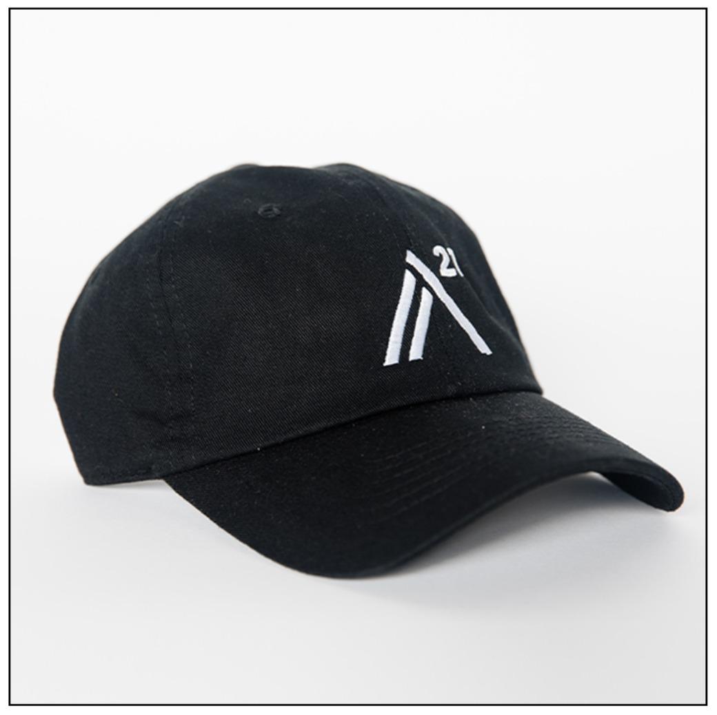 Black Ball Cap: white embroidered stitch