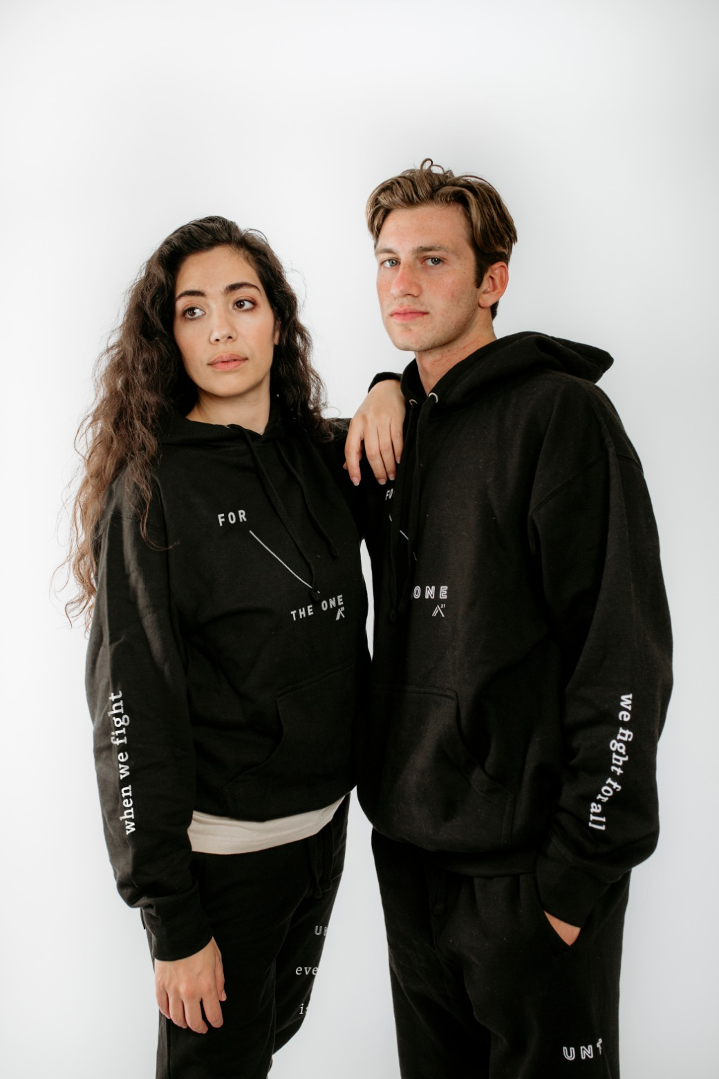 Black, hooded: For The One