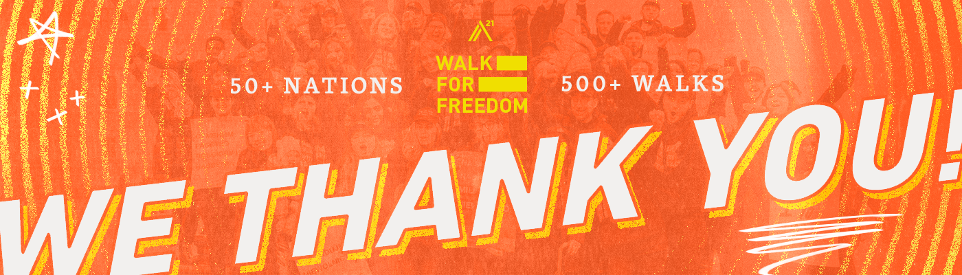 We Thank You – Walk For Freedom 2019
