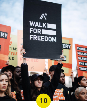 475 Walks take place in 50 Countries during our 5th annual Walk For Freedom
