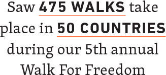 475 Walks, 50 Countries Walk For Freedom