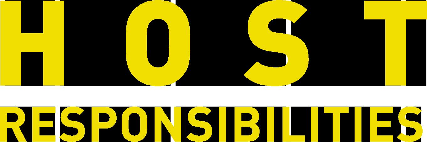 Host Responsibilities