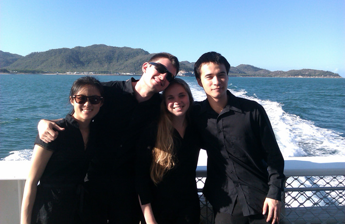 AYO String Quartet touring to the magnificent Magnetic Island