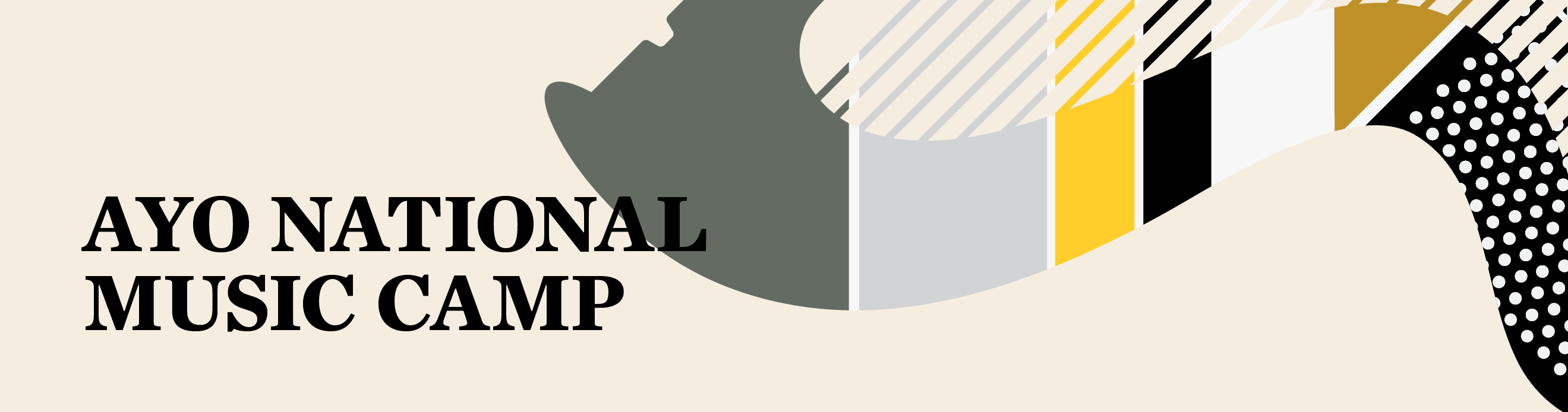 AYO National Music Camp banner