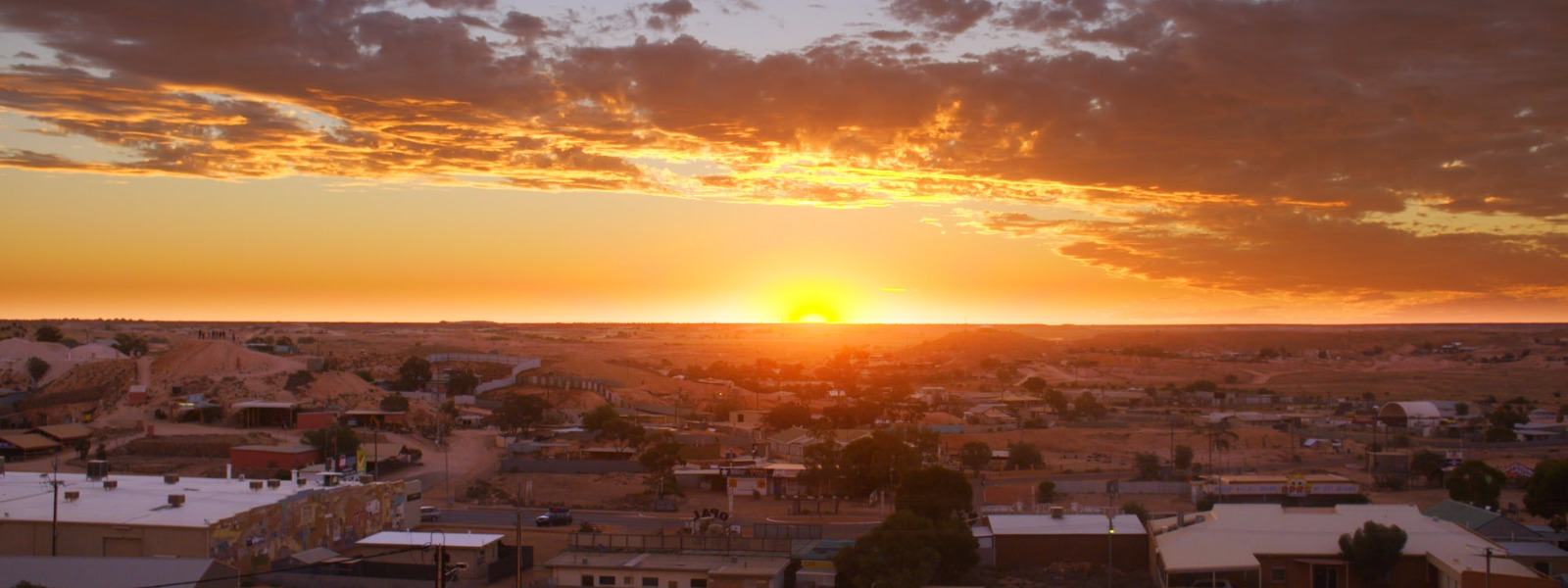 coober pedy at sunset
