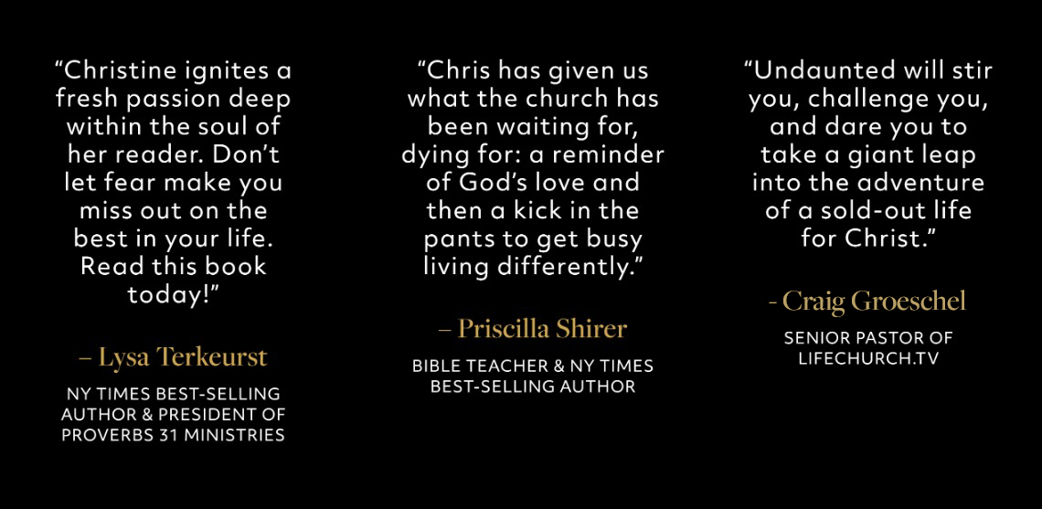 Lysa Teurkerst, Priscilla Shirer, Craig Groschel Quotes