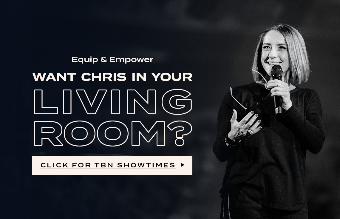 Equip & Empower. Do you want Christine in your living room? Watch Now!