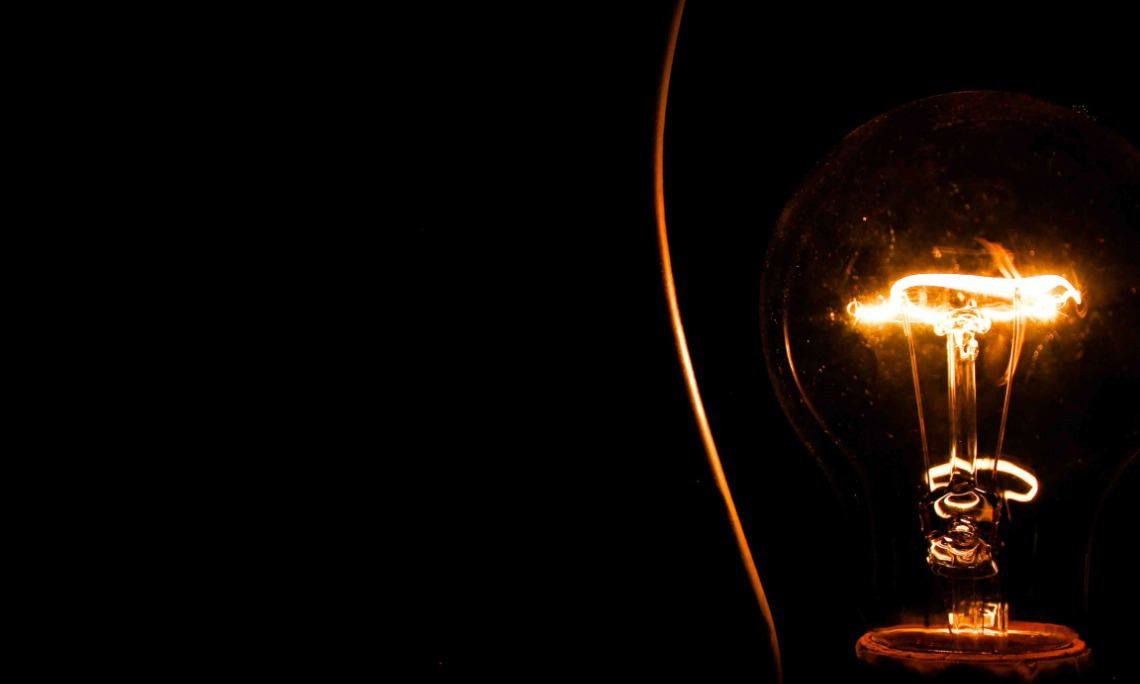 """Light bulb photo: """"But you will receive power when the Holy Spirit comes upon you. And you will be my witnesses, telling people about me everywhere — in Jerusalem, throughout Judea, in Samaria, and to the ends of the earth"""" (Acts 1:8, NLT)."""