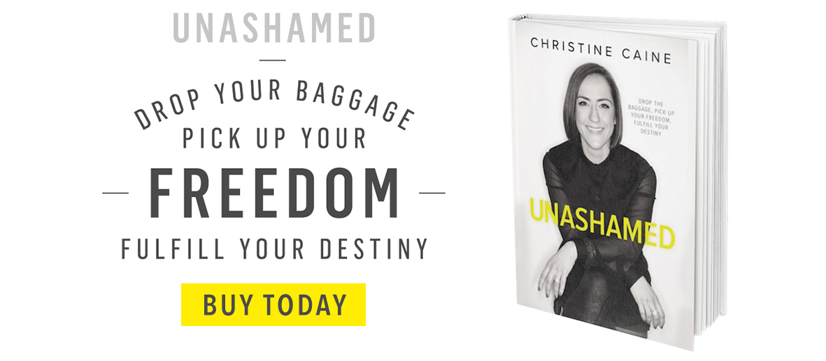 Unashamed; Drop your baggage, pick up your freedom, fulfill your destiny. Buy now. Christine Caine